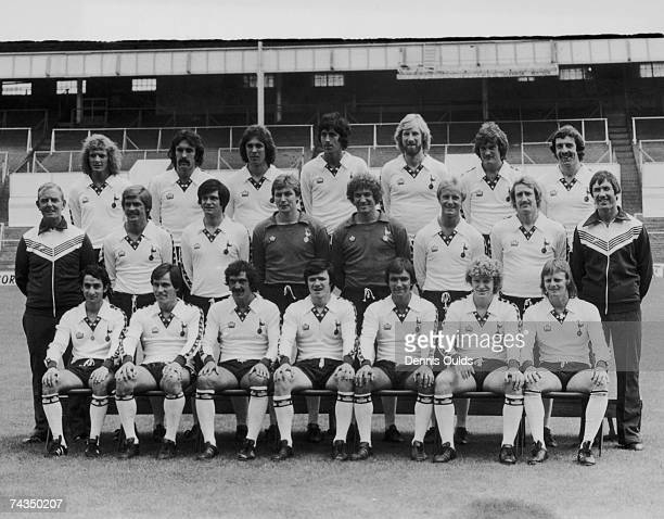 The 1978 Tottenham Hotspur team at their White Hart Lane ground 17th July 1978 The team photo includes manager Keith Burkinshaw Glenn Hoddle Steve...