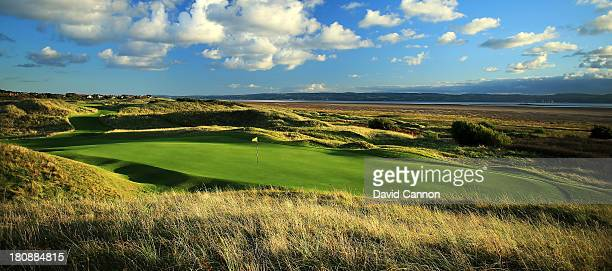 The 198 yards par 3 11th hole 'Alps' which will play as the 13th hole in the 2014 Open Championship at Royal Liverpool Golf Club on September 14 2013...