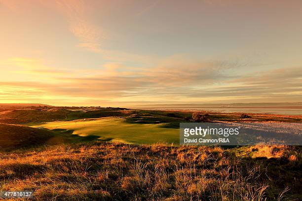 The 198 yards par 3 13th hole 'Alps' at Royal Liverpool Golf Club the venue for the 2014 Open Championship on March 11 2014 in Hoylake England