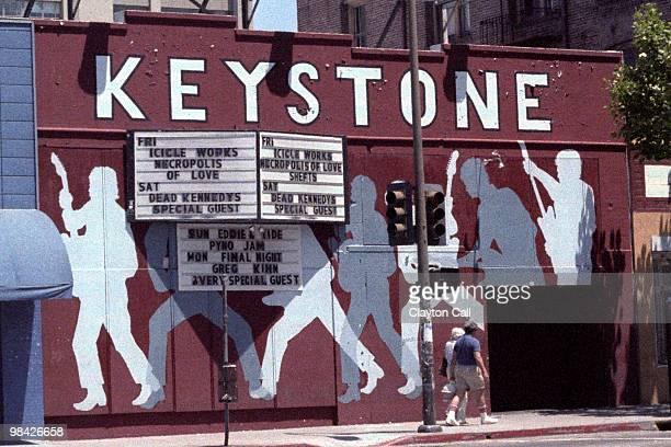 The 1984 closing week marquee at the Keystone Berkeley opened by the owners of San Francisco's Keystone Korner jazz club in 1972