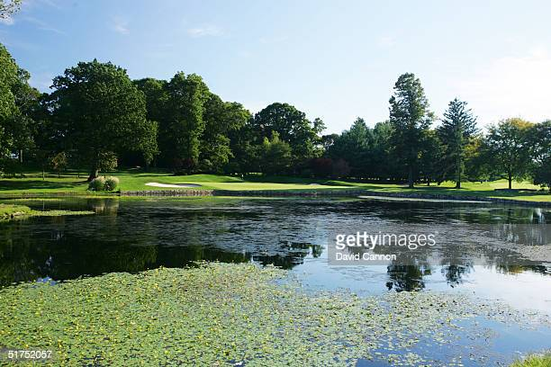The 199 yard par 3 4th hole on the Lower Course at Baltusrol Golf Club venue for the 2005 USPGA Championship, on September 24, 2004 in Springfield,...
