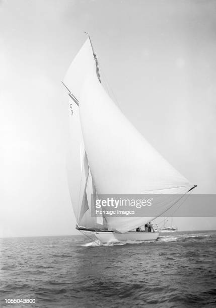 The 19metre class 'Corona' running downwind 1911 'Corona' one of only six 19metre class yachts ever built was designed by William Fife III and...