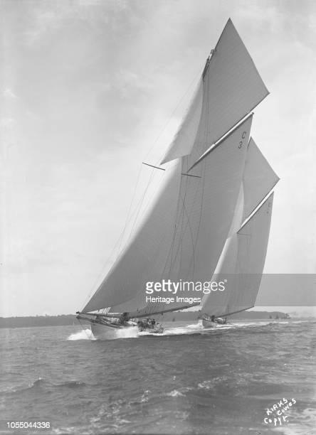 The 19metre 'Corona' and 'Octavia' racing closehauled 1911 'Corona' and 'Octavia' were two of the four British built 19metre class yachts 'Corona'...