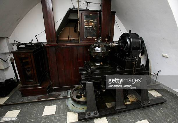The 19th century's built mechanical engine of the carillon of the new townhall at the Marienplatz seen on March 23 2007 in Munich Germany The...