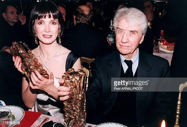 "The 19th evening of ""Cesars"" in Paris, France in February, 1994 - Alain Resnais, Sabine Azema."