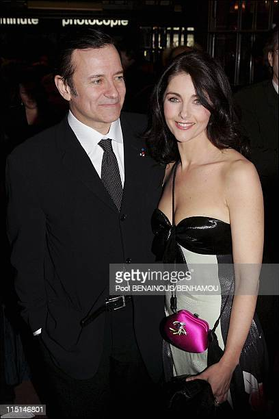 The 19th night of the Molieres at the Mogador Theatre in Paris France on May 09 2005 Francis Huster and Cristina Reali