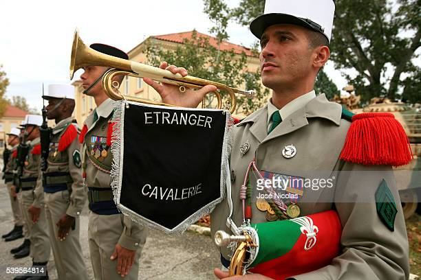 The 1st Foreign Cavalry Regiment , aka Royal Etranger, is the only armoured cavalry regiment in the French Foreign Legion. Review of the troops.