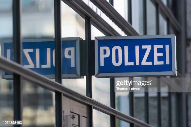 The 1st police station in the city center pictured on December 18 2018 in Frankfurt Germany Police have expanded an internal investigation into a...