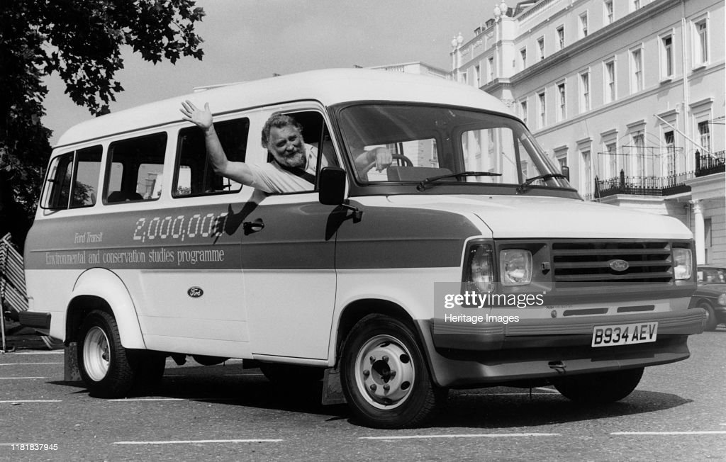 The 2 Millionth Ford Transit Minibus For Schools With Dr David Bellamy. Creator: Unknown. : News Photo