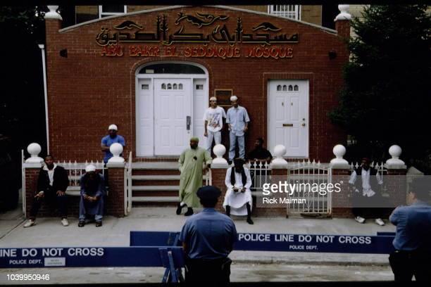 The 2 of July Skeik Omar Abdel Rahman leaves the Abu Bakr El Seddique Mosque in Brooklyn before surrender to the Federal Authorities