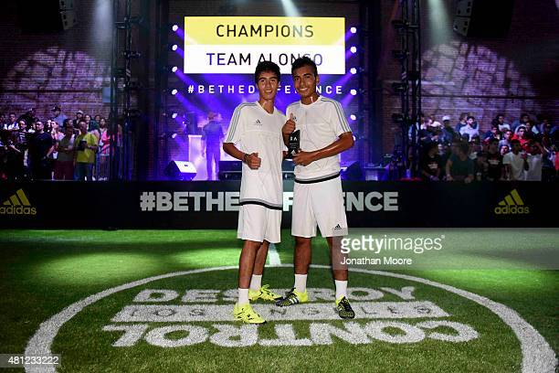 The 2 v. 2 Tournament Champions pose for a photo after the final match during adidas Be The Difference LA on July 15, 2015 in Los Angeles, California.