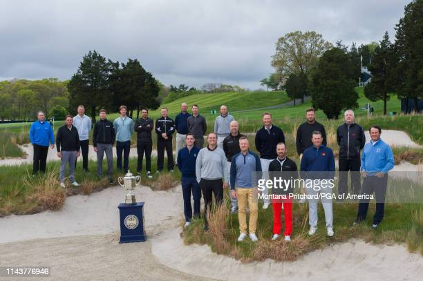The 20 PGA Club Professionals gather for a photo which includes starting from the front row Alex Beach Brian Mackey Ryan Vermeer Cory Schneider John...