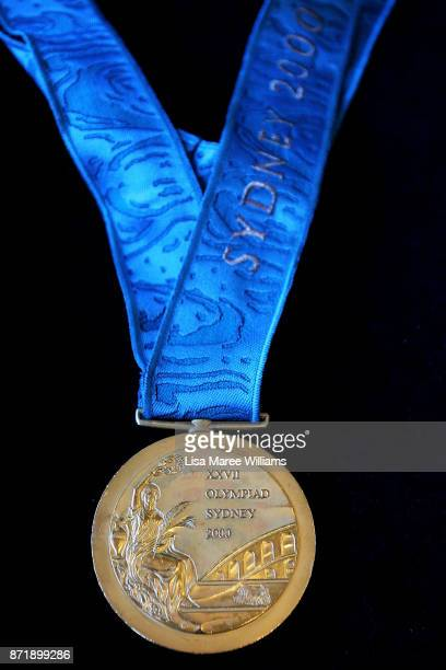 The 2000 Olympic Gold Medal won by Michael Diamond as seen at Lawsons Auctioneers on November 9 2017 in Sydney Australia Michael Diamond competed in...