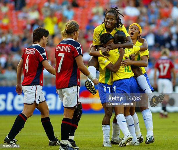 The 2003 Womens World Cup tournament in Washington DC at RFK Stadium Group B play saw Brazil defeat Norway 4–1 on 9/24/03 Brazil's 17 year old...