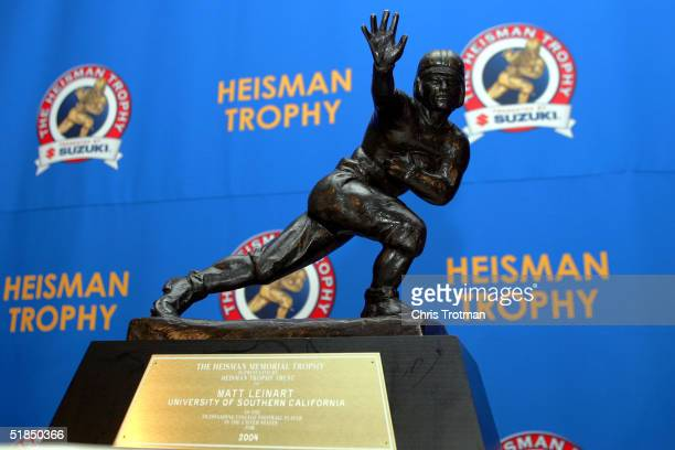 The 2004 Heisman Trophy won by Matt Leinart of the University of Southern California Trojans on December 11 2004 in New York City