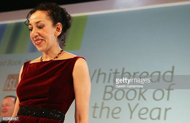 The 2004 Whitbread Book Of The Year winner Andrea Levy leaves the stage after making her winners speech at the The Brewery on January 25 2005 in...