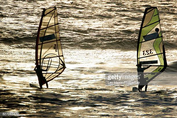 The 2005 WHITEAIR Extreme Sports Festival.Compton Bay Isle of Wight. Windsurfing