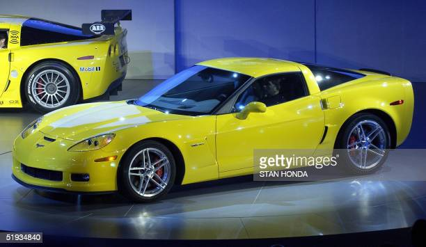The 2006 Chevrolet Corvette Z06 makes its world premiere 10 January 2005 during the press days at the North American International Auto Show at Cobo...