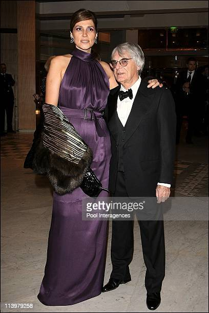 The 2006 FIA Gala held in Monaco city, Monaco On December 08, 2006-President of FOM Bernie Ecclestone and his wife arrive at the 2006 FIA Gala.