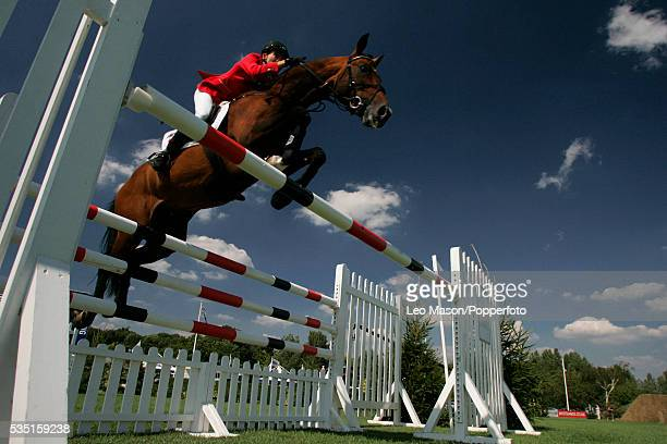 The 2006 Royal International Horse Show Hickstead Show jumping Arena in Sussex. The Sansung Super League GB.   Location: near Haywards Heath,...