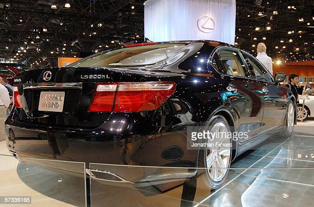 The 2007 Lexus LS600hL gasolineelectric hybrid luxury sedan stands on display during the press preview of the 2006 New York International Auto Show...