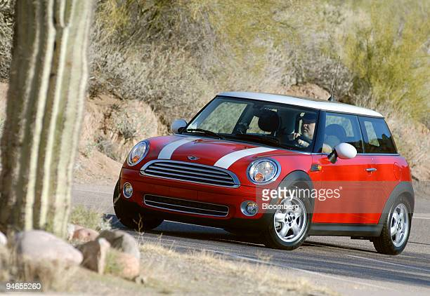 The 2007 Mini Cooper manufactured by Bayerische Motoren Werke AG BMW is driven for the motoring press in Scottsdale Arizona on February 4 2007...