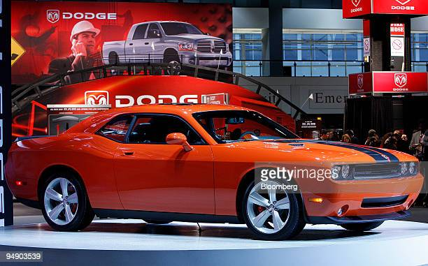 The 2008 Dodge Challenger is debuted during the Chicago Auto Show in Chicago, Illinois, U.S., on Wednesday, Feb. 6, 2008. Chrysler LLC will bring...