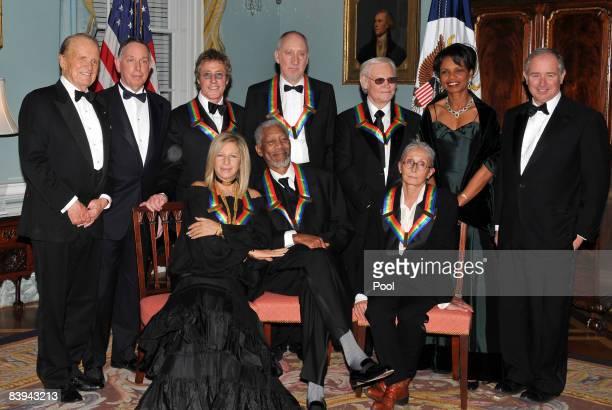 The 2008 Kennedy Center honorees singer Barbra Streisand actor Morgan Freeman dancer Twyla Tharp producer George Stevens Jr President of the John F...