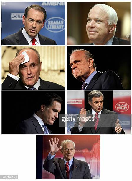 The 2008 Republican White House hopefuls are pictured in these recent file photos ahead of the presidential nominating contests which begin 03...