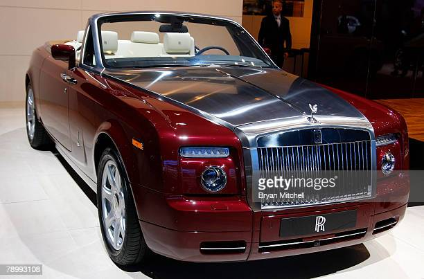 The 2008 Rolls-Royce Phantom Drophead convertible is displayed during the press preview days at the North American International Auto show at Cobo...