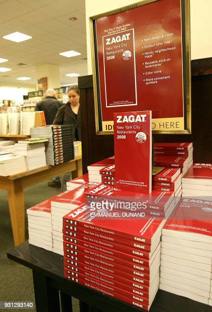 The 2008 Zagat New York's leading food guide is on display for its first day on sale at a book store in New York 10 October 2007 Zagat which on...