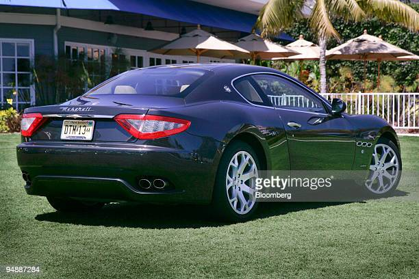 The 2009 Maserati GranTurismo is photographed in front of the Laguna Cliffs Marriott Resort and Spa in Dana Point California US on Friday June 6 2008...