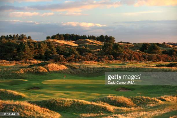 The 201 yards par 3 14th hole at Royal Birkdale Golf Club the host course for the 2017 Open Championship on October 10 2016 in Southport England