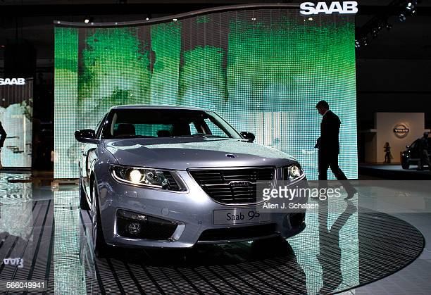 The 2010 Saab 9–5 Aero on display at the Los Angeles Auto Show Press Days