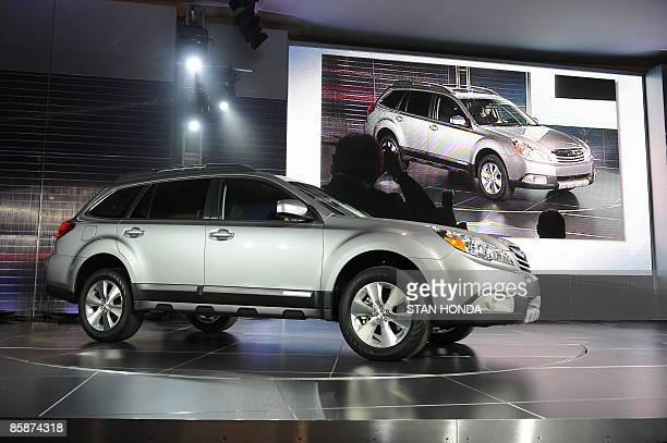 The 2010 Subaru Outback is introduced at the New York International Auto Show April 9 2009 in New York AFP PHOTO/Stan Honda