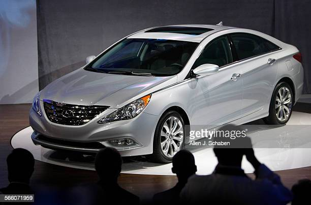 The 2011 Hyundai Sonata is unveiled a North American debut at the Los Angeles Auto Show Press Days