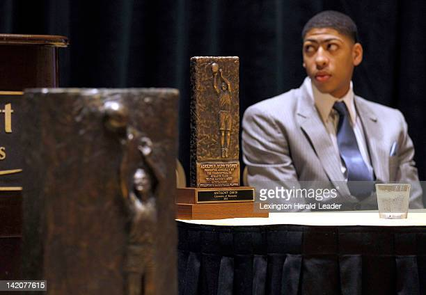 The 2012 Adolph Rupp Trophy was presented by The Commonwealth Athletic Club of Kentucky to UK's Anthony Davis during a ceremony held in the Marriott...