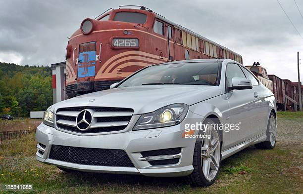 The 2012 Daimler AG MercedesBenz CClass Coupe is displayed during a media preview near Gorham New Hampshire US on Tuesday Sept 20 2011 MercedesBenz...