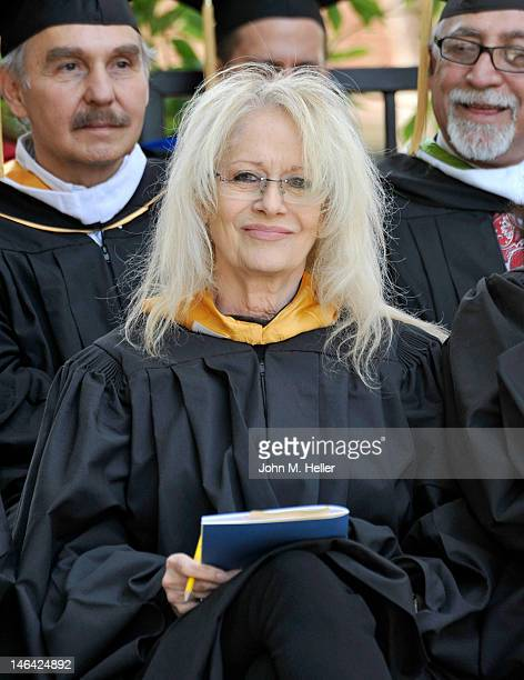 The 2012 Distinguished Alumni Award Honoree director Penelope Spheeris attends the Commencement Ceremonies for The School of Theater Film Television...