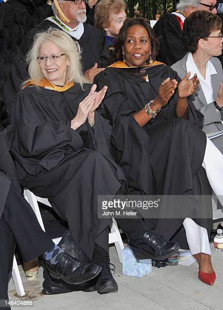 The 2012 Distinguished Alumni Award Honorees are directors Penelope Spheeris and Shirley Jo Finney at Commencement Ceremonies for The School of...