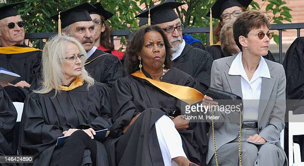 The 2012 Distinguished Alumni Award Honorees are directors Penelope Spheeris and Shirley Jo Finney at Commencement for the School of Theater Film...
