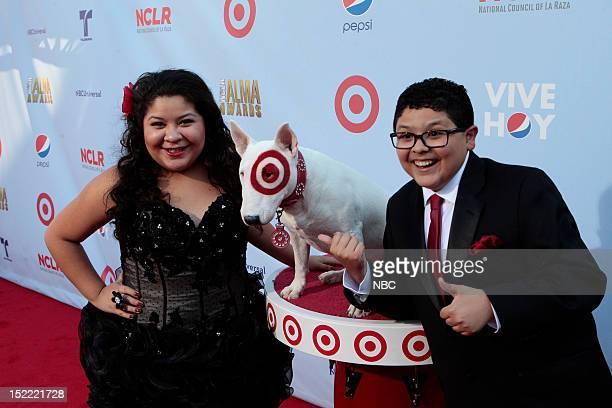 AWARDS The 2012 NCLR ALMA Awards 'Red Carpet' Pictured Raini Rodriguez and Rico Rodriguez on the red carpet at the 2012 NCLR ALMA Awards held at the...