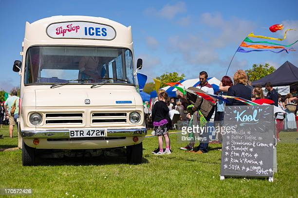 CONTENT] The 2013 Southport Food Festival A vintage ice cream van selling ices to children and adults on a summer day
