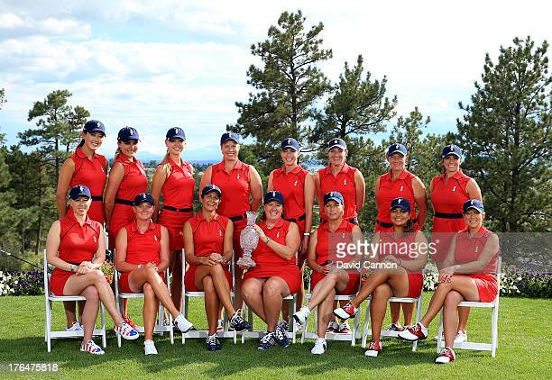 The 2013 United States Solheim Cup Team Morgan Pressel Stacy Lewis Laura Diaz Meg Mallon Dottie Pepper Lizette Salas Cristie Kerr Michelle Wie Lexi...