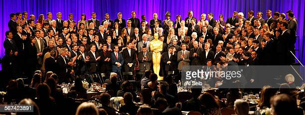 The 2014 class portrait at the 86th Annual Oscar Nominees Luncheon at the Beverly Hilton