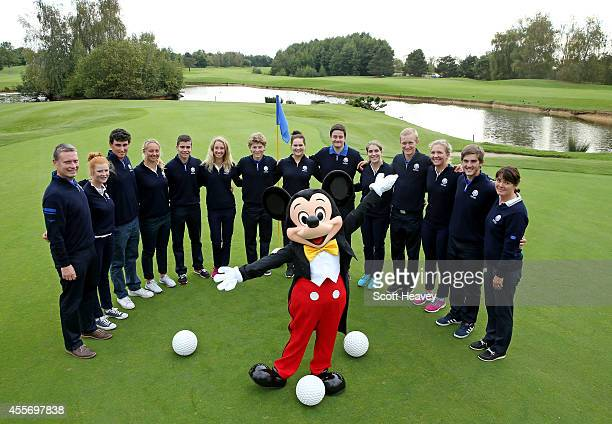 The 2014 Junior Ryder Cup team: Captain of Europe Stuart Wilson, Marcus Kinhult of Sweden, Annabel Dimmock of England, Bradley Neil of Scotland,...