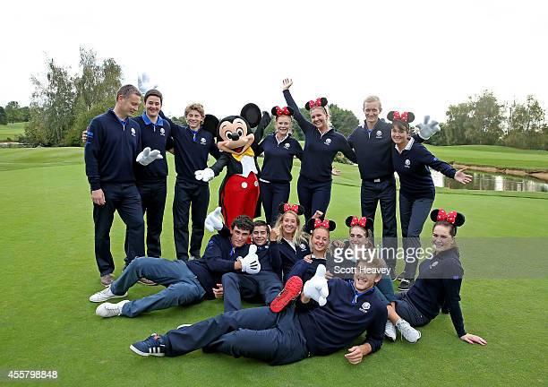 The 2014 Junior Ryder Cup team Captain of Europe Stuart Wilson Marcus Kinhult of Sweden Annabel Dimmock of England Bradley Neil of Scotland Emily...