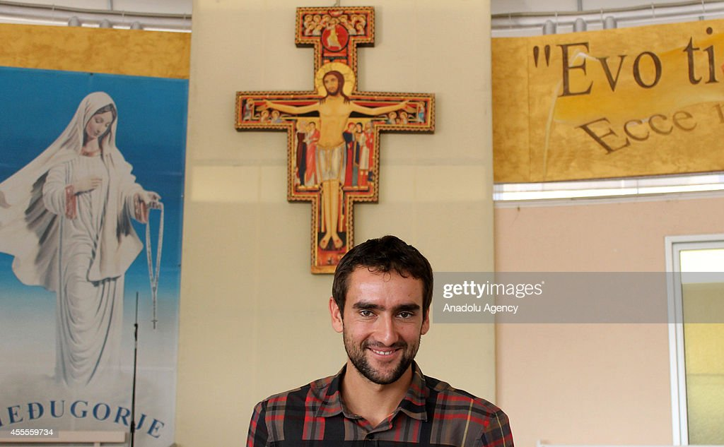 The 2014 US Open Men's Singles champion Marin Cilic of Croatia, who was born in Medjugorje, attends his US Open celebrations at his hometown on September 16, 2014 in Medjugorje, Bosnia and Herzegovina.