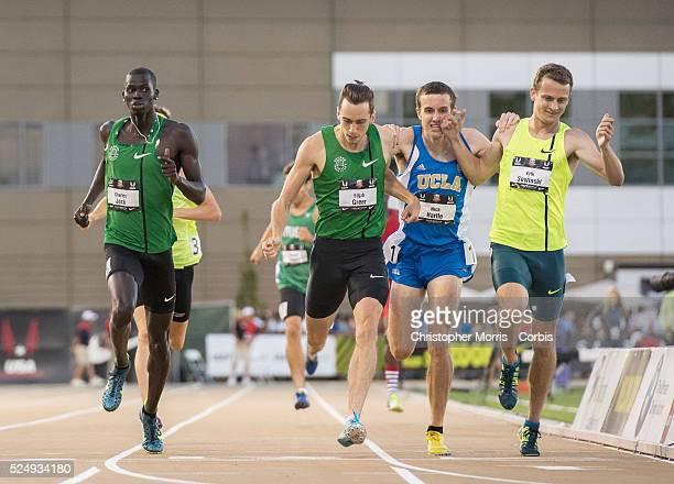 The 2014 USA Track and Field Championships in Sacramento: Men's 800 meter- Charles Jock, Elijah Greer, Nick Hartle, Erik Sowinski