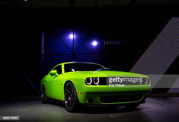 The 2015 Dodge Challenger is introduced during a media preview of the 2014 New York International Auto Show in New York The show opens with a sneak...